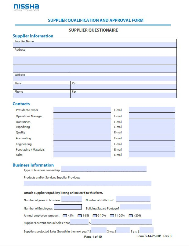 Supplier Qualification
